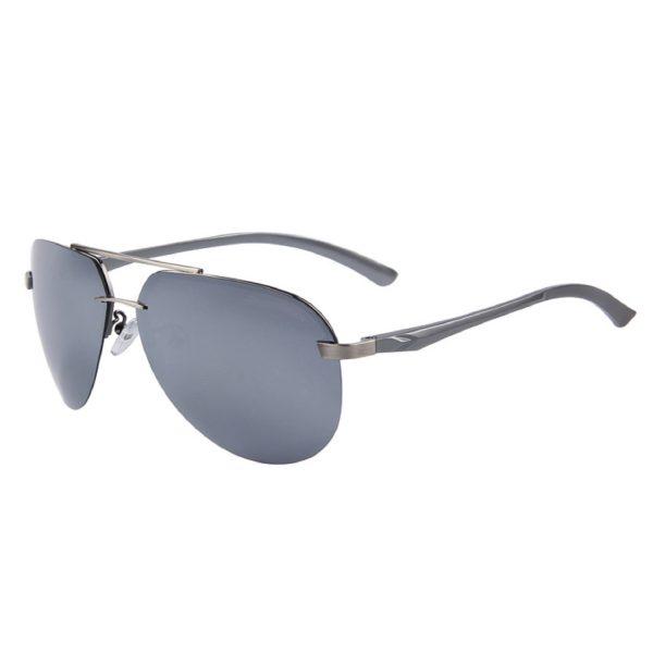 Premium Silver Mirror Polarized Aviator Sunglasses