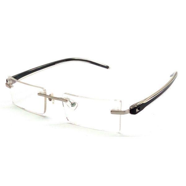 Premium Black Light Weight Rimless Computer Glasses V9023bk