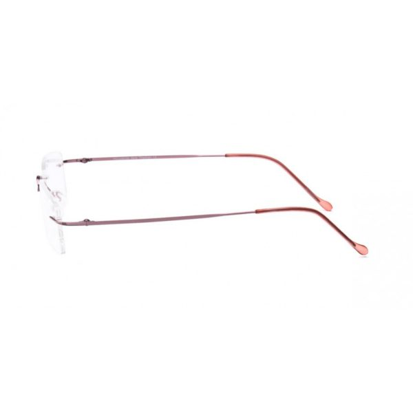 Pink Rimless Computer Glasses with Anti Glare Coating