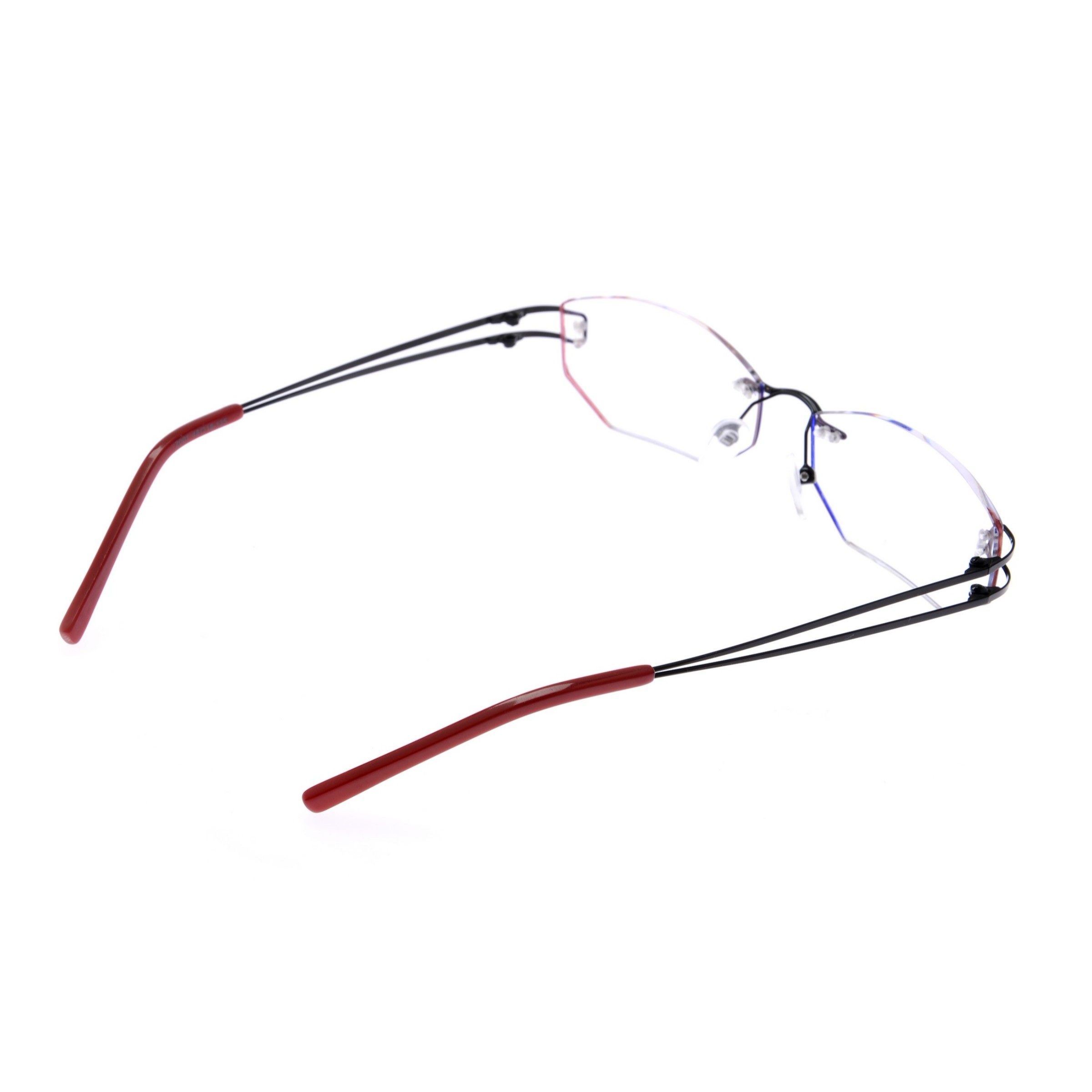 Crystal Red Designer Rimless Computer Glasses Z001RD