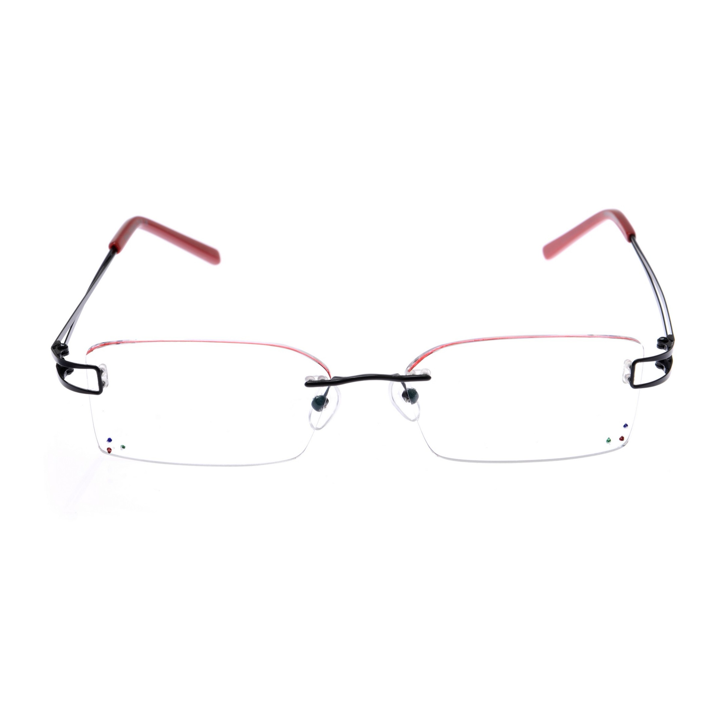 Crystal Red Designer Rimless Computer Glasses Z005RD