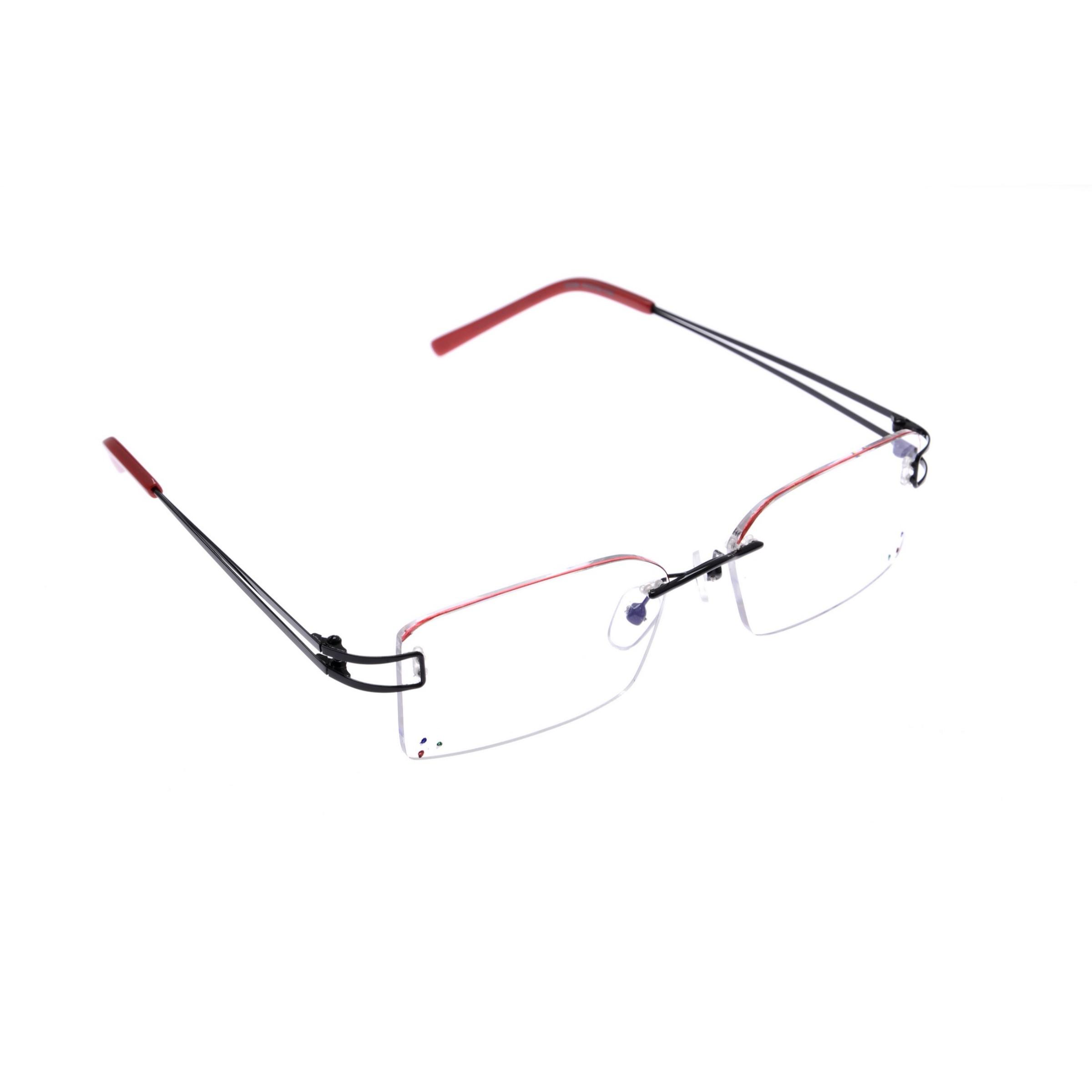 Crystal Red Designer Rimless Computer Glasses Z005RD