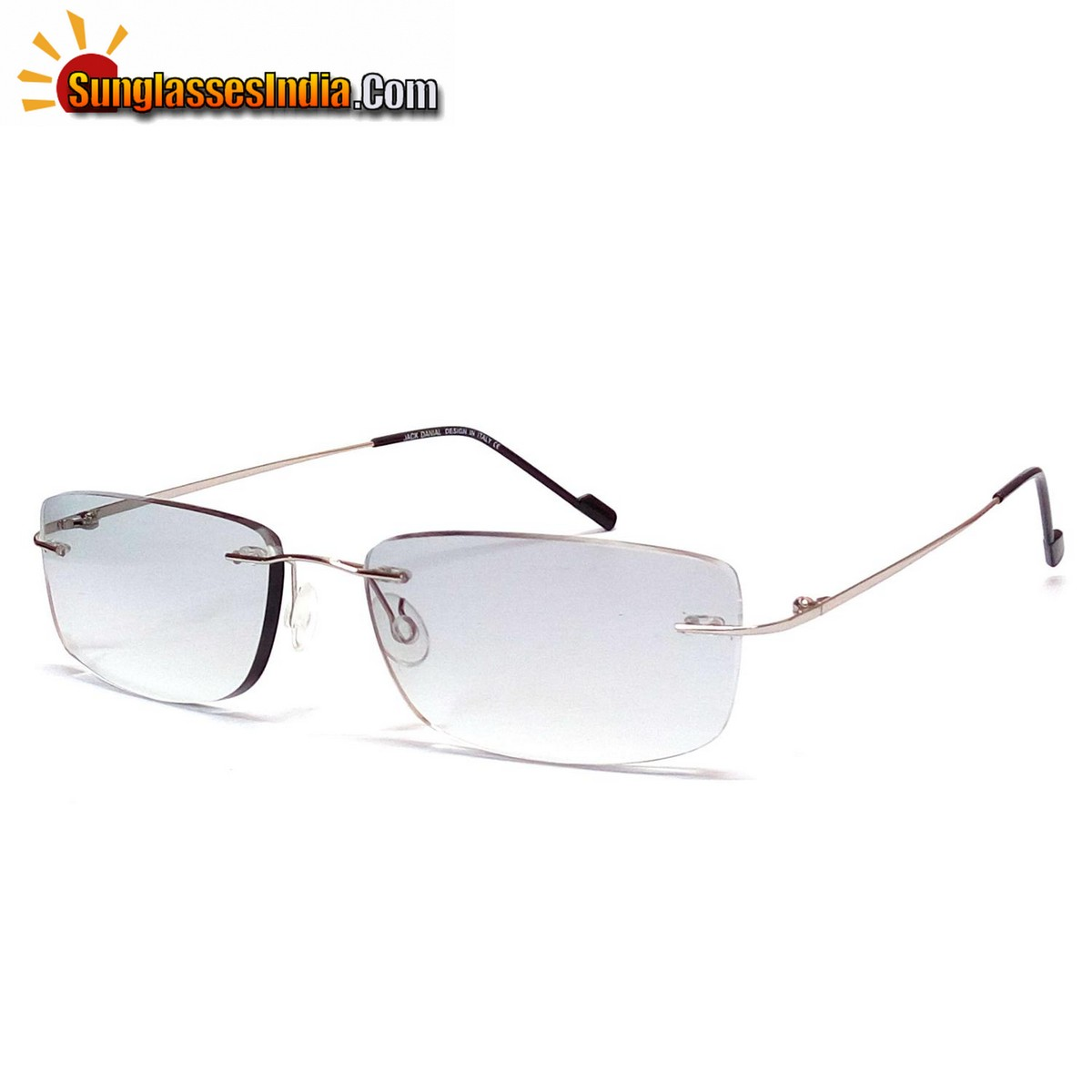 Grey Gradient Ultra Light Weight Rimless Sunglasses for Men and Women