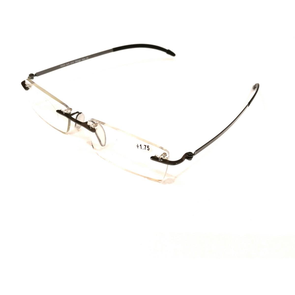 Premium Grey Rimless Reading Glasses
