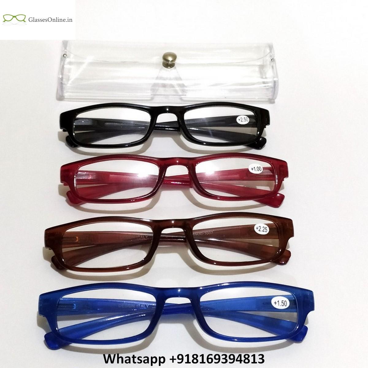 Plastic Full Frame Reading Glasses with Spring