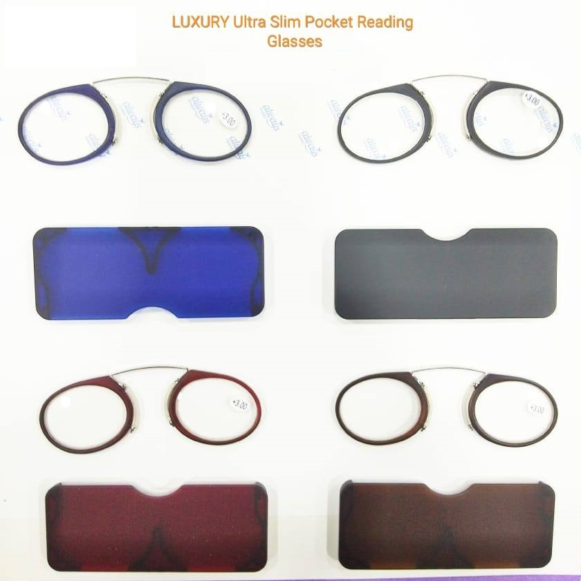 Luxury Ultra Slim Nose Reading Glasses