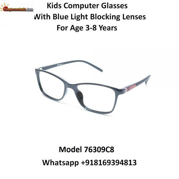 Grey Kids Computer Glasses