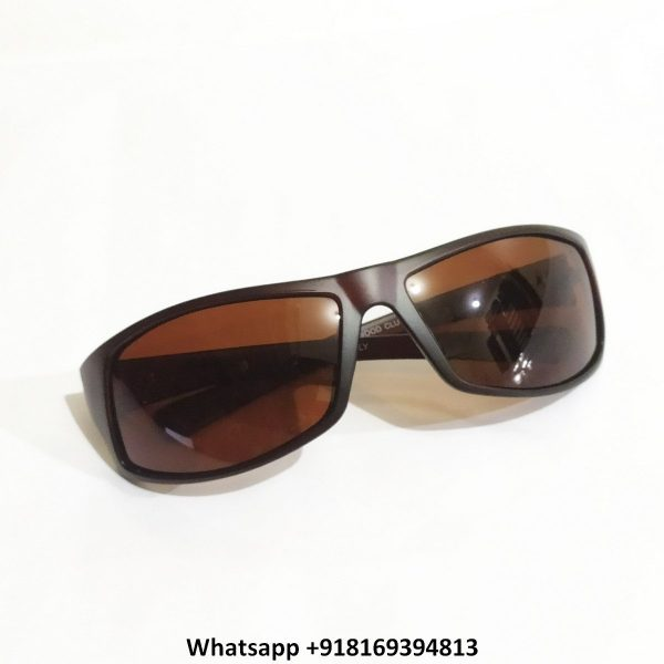 Wraparound Sports Polarized Sunglasses for Men and Women 10062BR