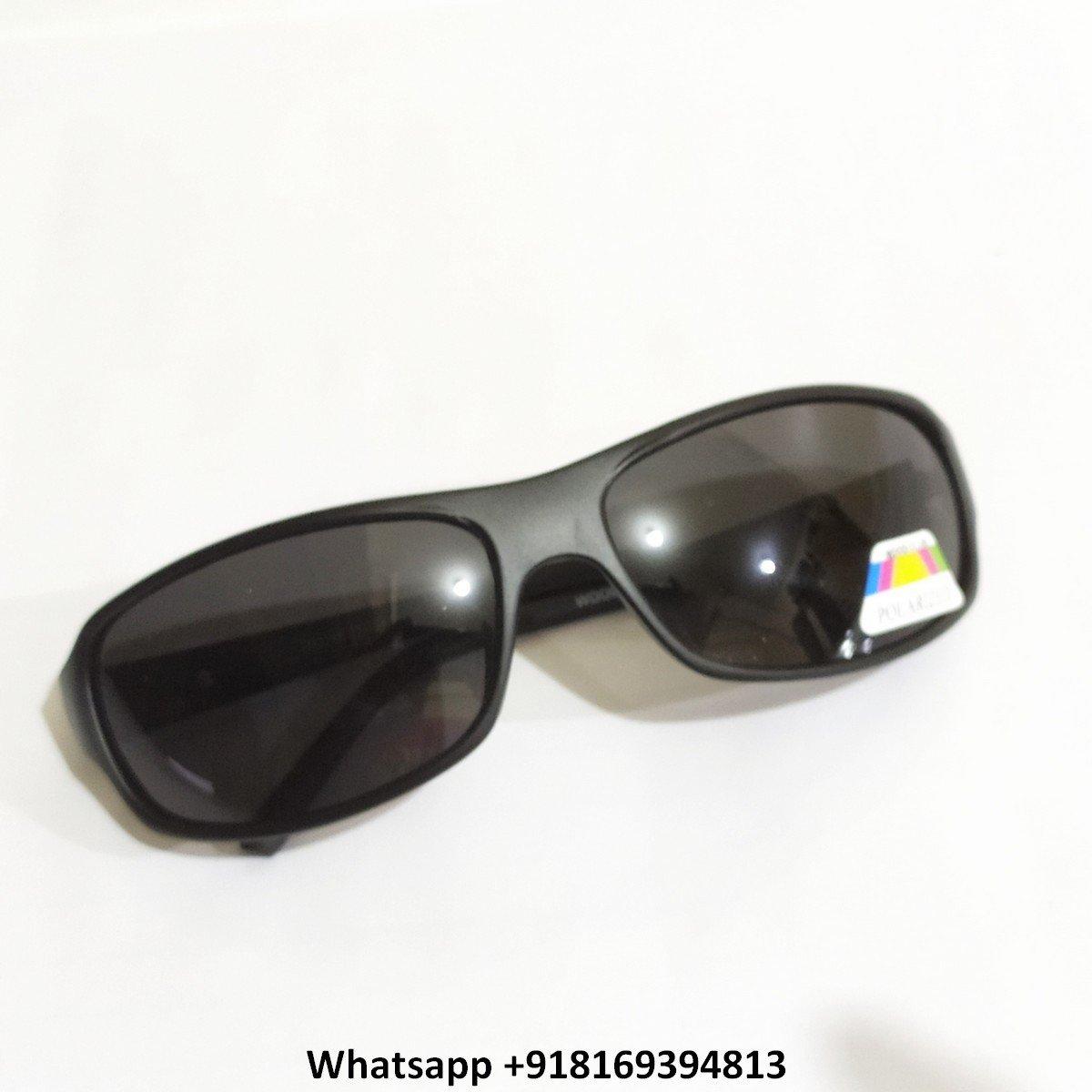 Wraparound Sports Polarized Sunglasses for Men and Women 10068MBK