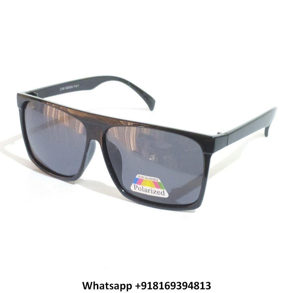 Trendy Square Polarized Sunglasses for Men and Women 2156BK