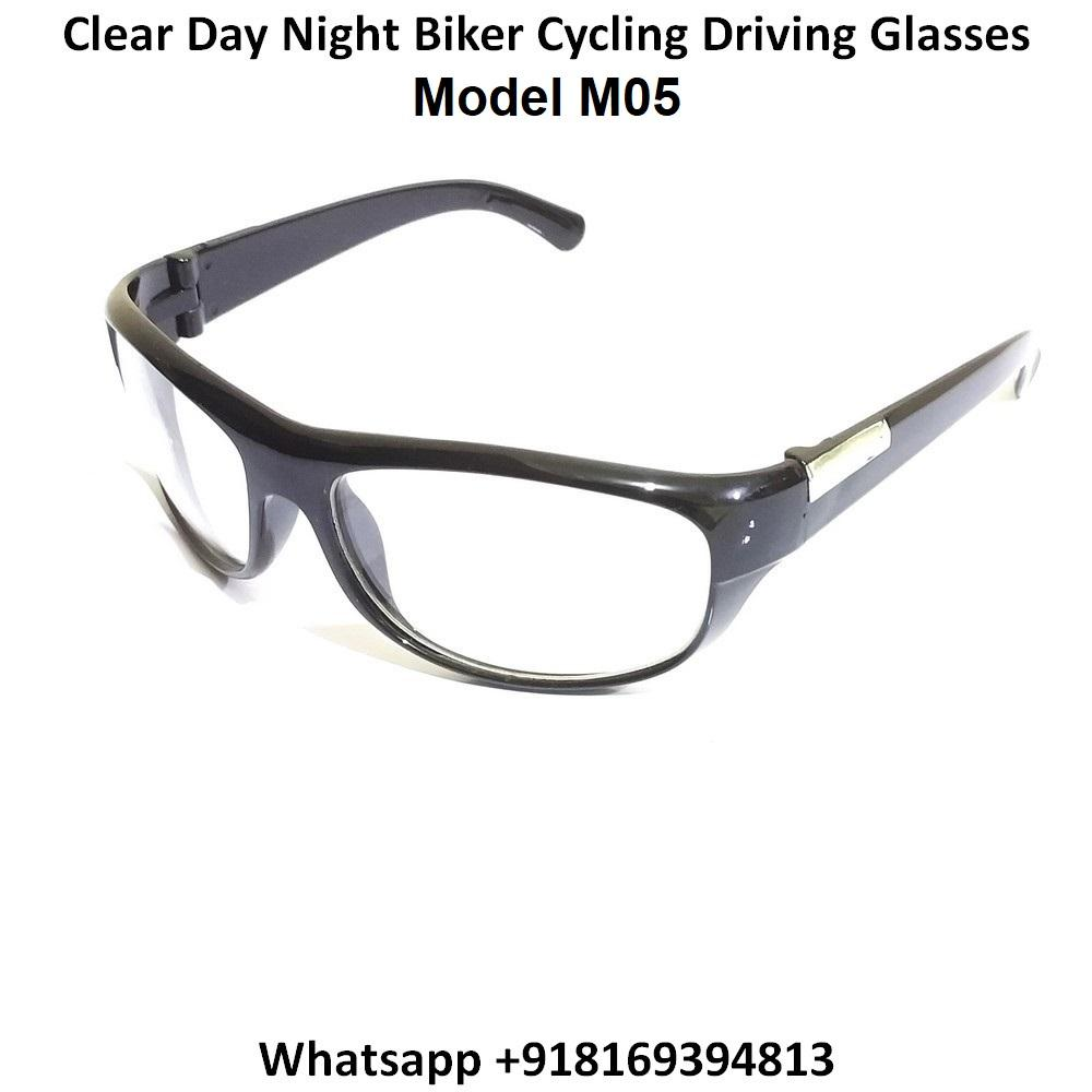 EYESafety Day Night Driving Glasses for Men and Women Sunglasses with Clear Lens M05