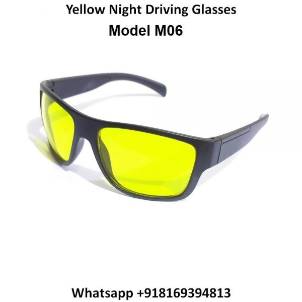 EYESafety Night Driving Glasses for Men and Women Sunglasses with HD Yellow Lens M06